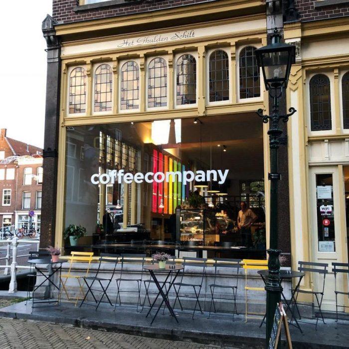 koffie in het centrum in delft