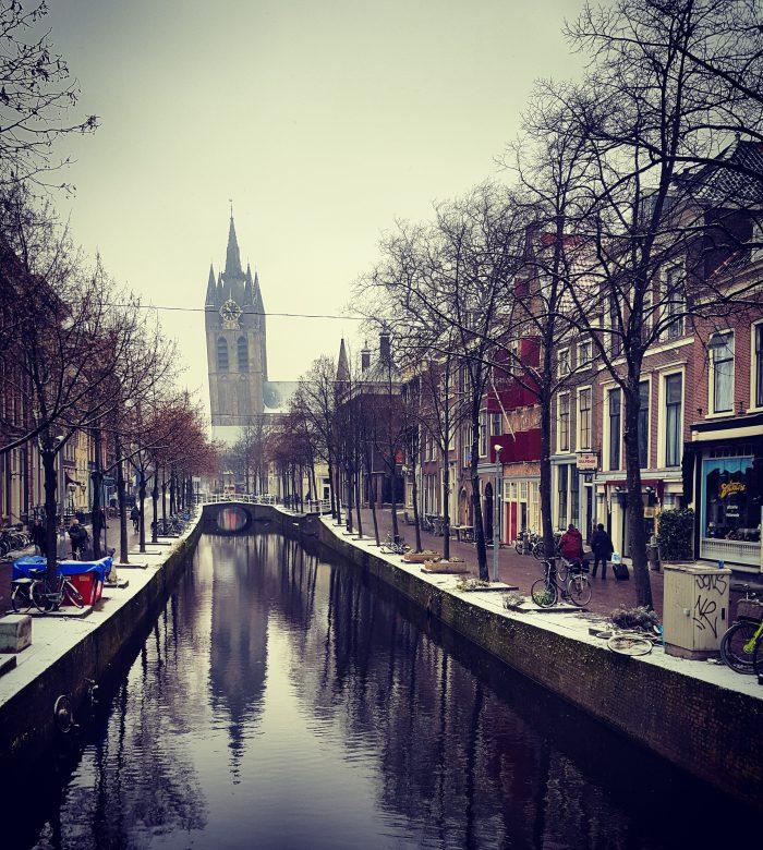Delft in de winter